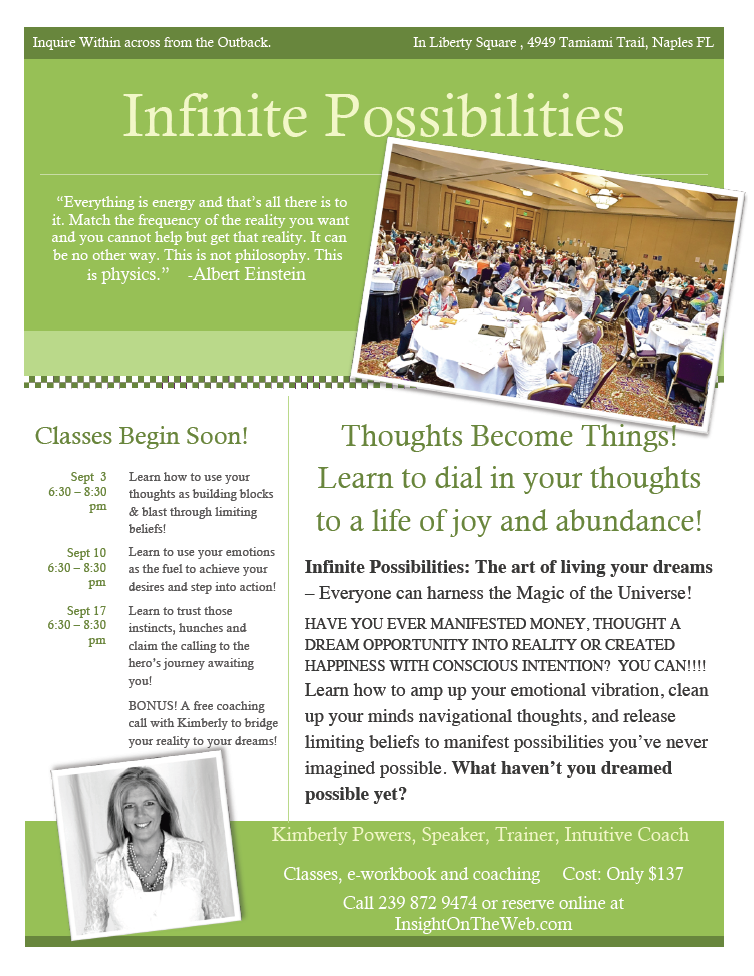 Infinite Possibilities – The Art of Changing Your Life